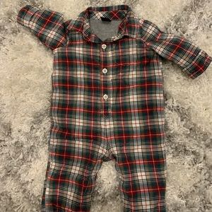 Baby Gap boys one piece romper plaid 3-6